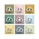 Flat Long Shadow Cloud Icons - GraphicRiver Item for Sale