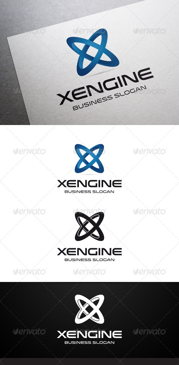 Xengine X Letter Logo