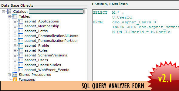 SQL Query Analyzer Form