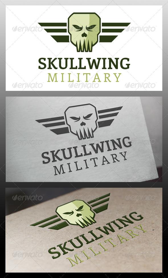 Skull Wings Logo Template