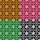 Seamless Pattern with Flowers and Circles - GraphicRiver Item for Sale