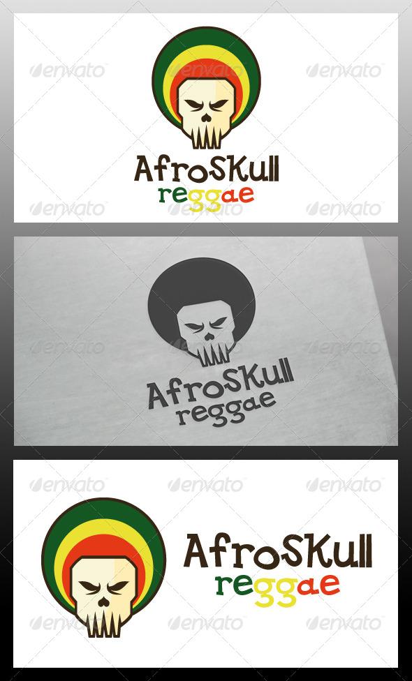 Afro Skull Logo Template