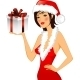 Girl in a Christmas Hat - GraphicRiver Item for Sale