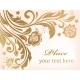 Gold Floral Background with Decorative Flowers - GraphicRiver Item for Sale
