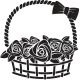 Gift Basket with Roses. Vector Illustration - GraphicRiver Item for Sale