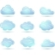 Vector Clouds Collection. Weathers Icon for Design. - GraphicRiver Item for Sale
