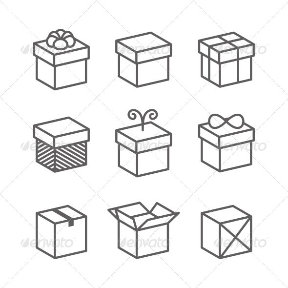 Vector Gift Box Icons