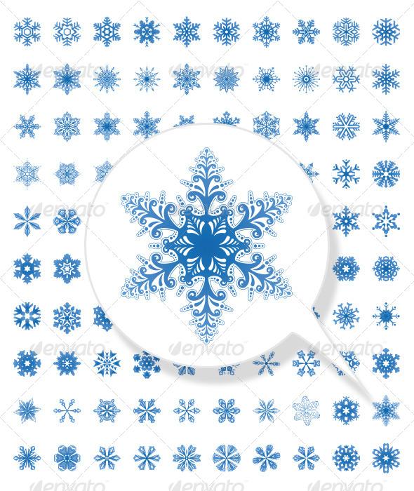 100 Snowflake Collection for Christmas