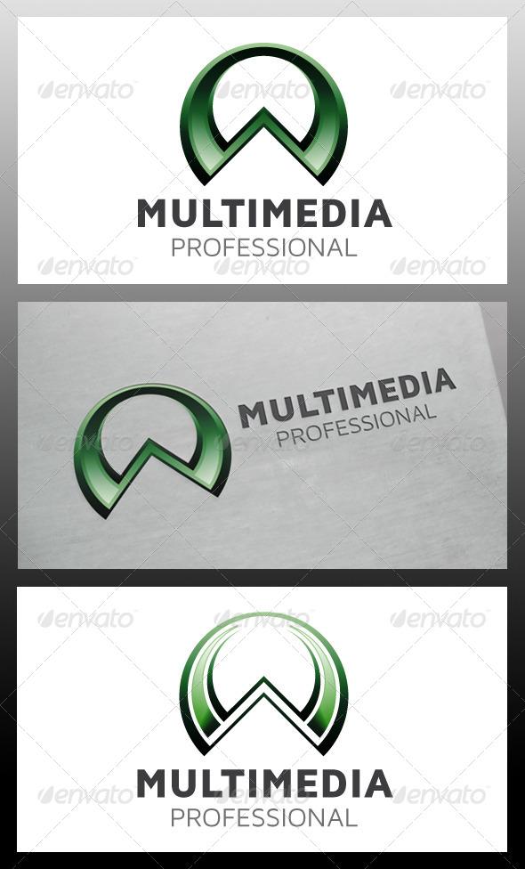 Multimedia A Letter Logo Template