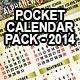 Pocket Calendar 2014 - Pack of 6 Designs - GraphicRiver Item for Sale