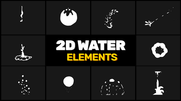 Water Elements // Motion Graphics