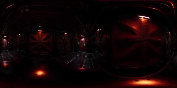 Vr360 View of Spaceship Interior