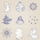 Set of Elements on a Christmas Theme - GraphicRiver Item for Sale