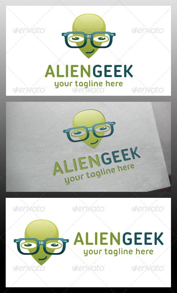 Alien Geek Logo Template
