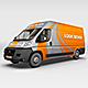 Courier Van Mock Up - GraphicRiver Item for Sale