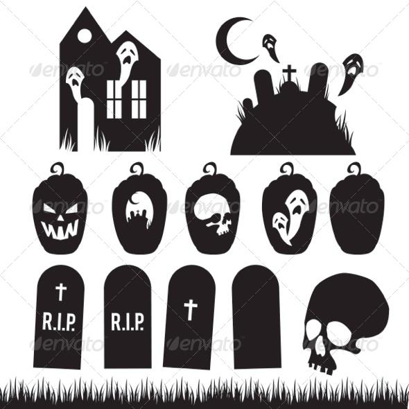 Full Halloween Vector Pack