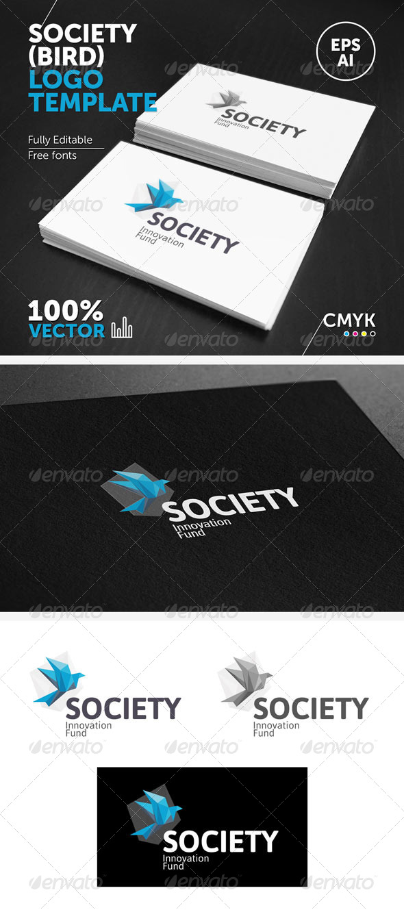 Society (bird) Logo Template