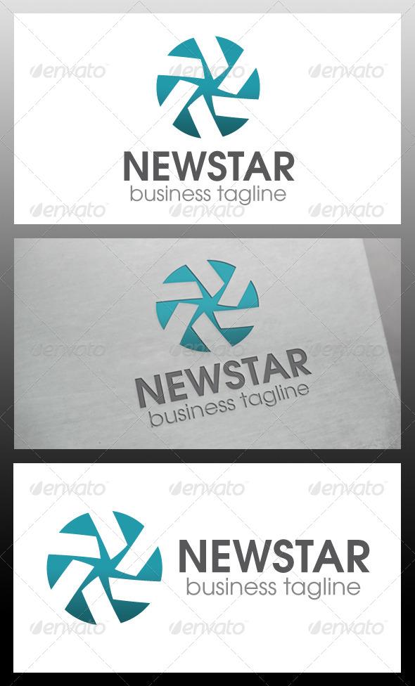 New Star Logo Template