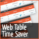 Web Table Time Saver - GraphicRiver Item for Sale