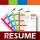 4 Set Creative & Professional Resume Template  - GraphicRiver Item for Sale