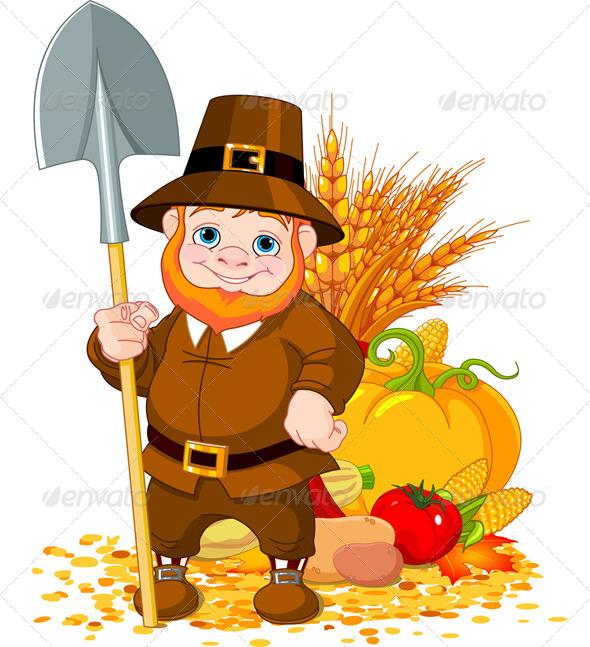 Pilgrim with Spade
