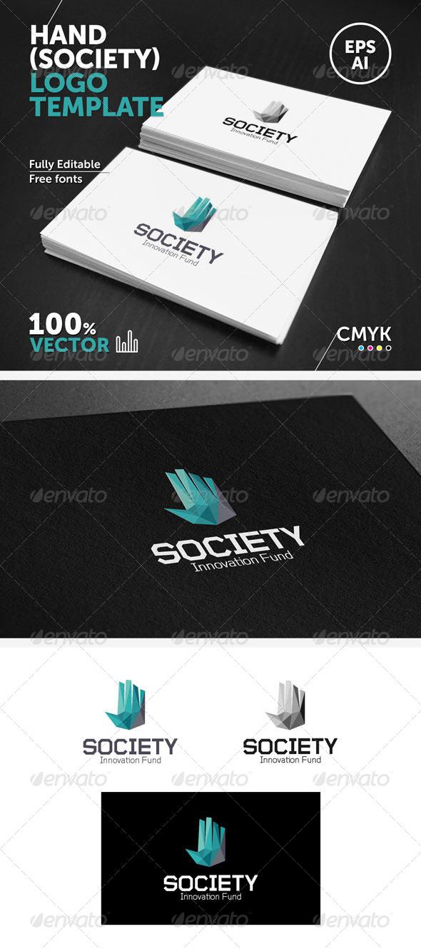 Hand (society) Logo Template