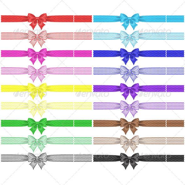 Collection of Eighteen Polka Dot Bows