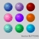 Polygonal Round Buttons - GraphicRiver Item for Sale