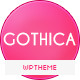 Gothica - A one Page WordPress Theme in Goth Style - ThemeForest Item for Sale