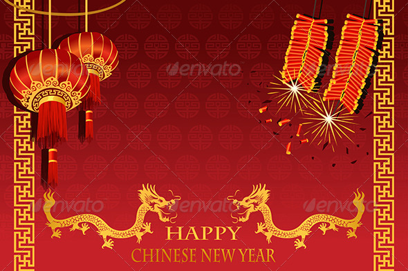 Chinese New Year And Lunar New Year Graphics Designs