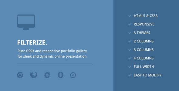 Filterize. Responsive CSS3 Portfolio Gallery