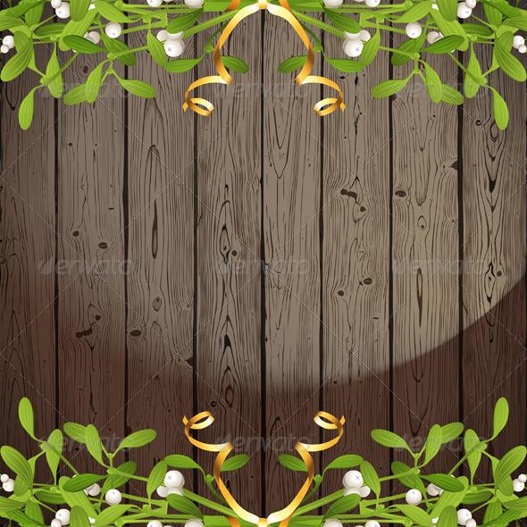 Background with Mistletoe