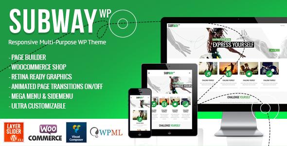 Subway - Responsive Multi-Purpose WordPress Theme Download