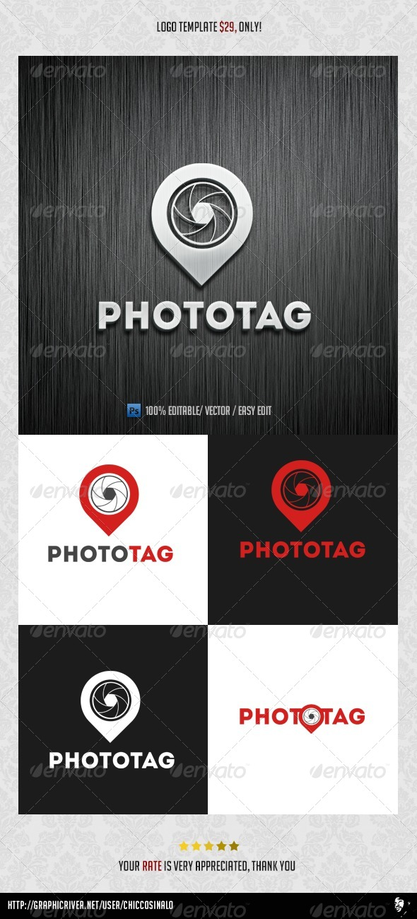 Photo Tag Logo Template