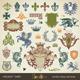 Vector Set: Heraldic Design Elements - GraphicRiver Item for Sale