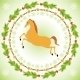 Christmas Horse in Round Frame - GraphicRiver Item for Sale