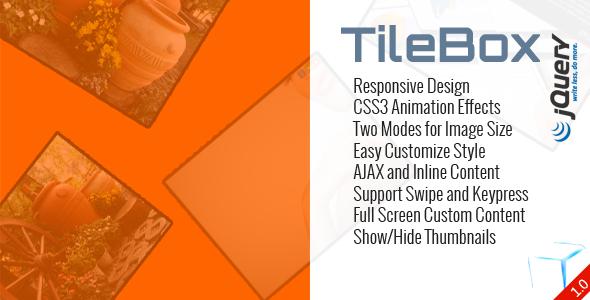 TileBox jQuery - Modern Responsive LightBox