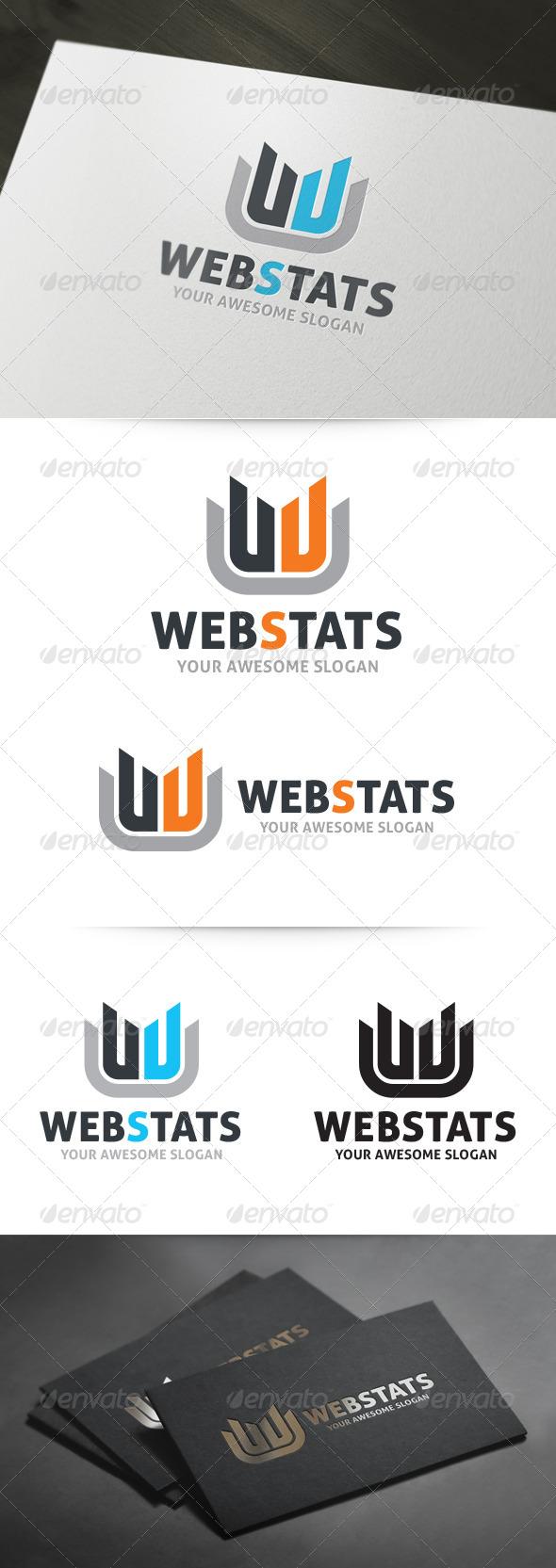 Web Stats - Letter W Logo