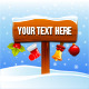 Christmas Sign - GraphicRiver Item for Sale