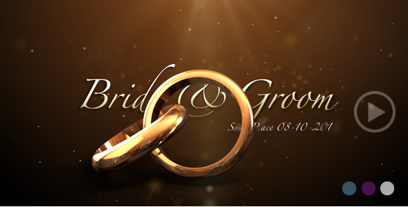 Wedding Rings After Effects Templates From VideoHive