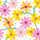 Seamless Gerber Daisy Pattern - GraphicRiver Item for Sale