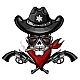 Sheriff Skull with Pistols and a Cigar - GraphicRiver Item for Sale