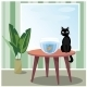 Naughty Cat Watching Fish - GraphicRiver Item for Sale