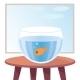Goldfish in Aquarium on Table - GraphicRiver Item for Sale