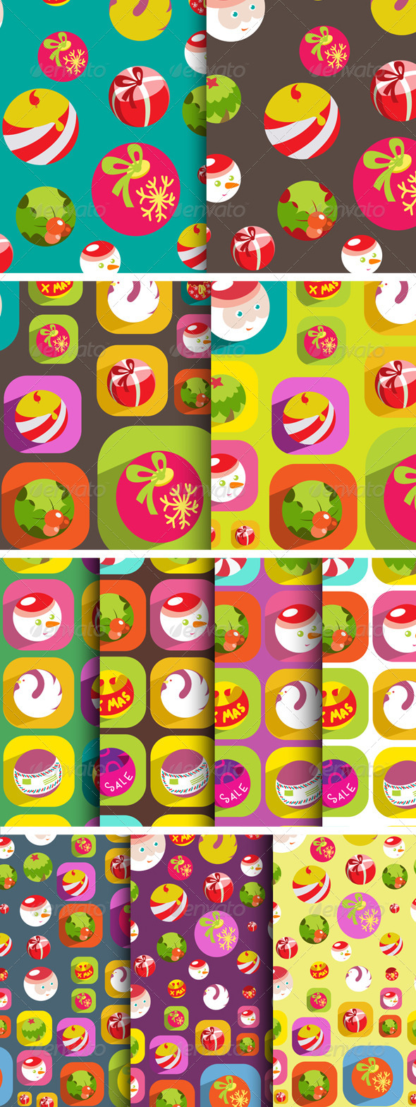 11 Colorful Christmas Background