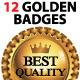 Golden Badges - GraphicRiver Item for Sale