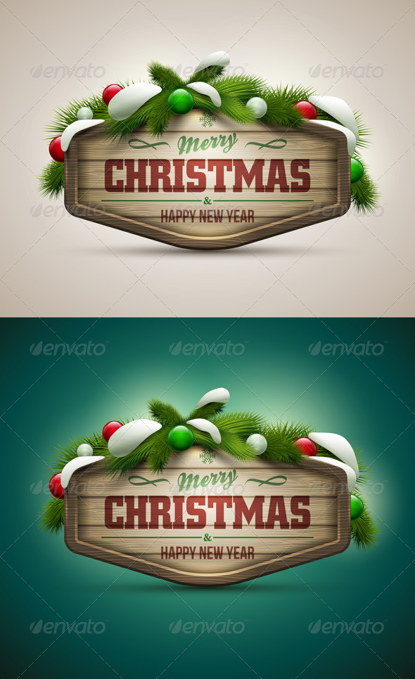 Wooden Christmas Message Board