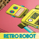 Retro Robot Business Card - GraphicRiver Item for Sale