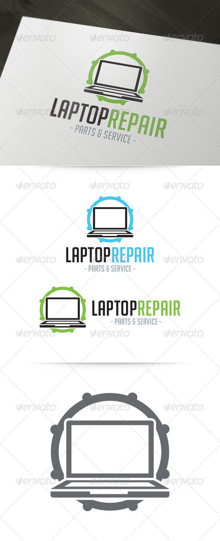 Laptop Repair Logo
