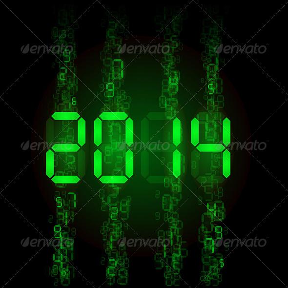 Digital 2014 Numerals
